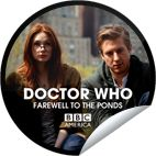 """#DoctorWho: Farewell to the Ponds – Amy & Rory!! You're counting down to The Doctor's heart-breaking farewell to the Ponds. Begin to say goodbye to Amy & Rory – AKA """"The Girl Who Waited"""" and """"Mr. Pond."""" Then, don't miss the DOCTOR WHO Fall Season Finale, """"The Angels Take Manhattan,"""" premiering this Saturday, Sept 29 only on BBC America. Share this one proudly. It's from our friends at BBC America. #Getglue #Stickers    ::)"""