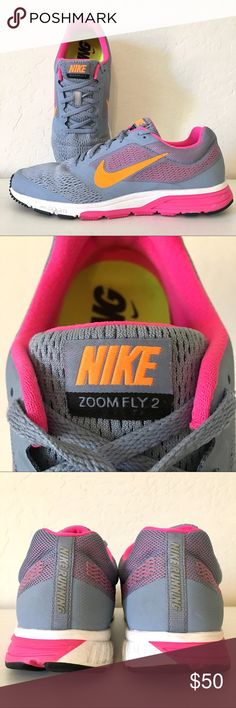 new style 5debf 4df02 NIKE Zoom Fly 2 RUNNING Shoes Neon Pink Orange NIKE running shoes in  excellent condition.