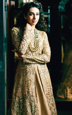 Sabyasachi..the fabric, the colour, the look is incredible for an evening outfit.