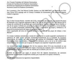 Podemos obligó a sus responsables en Extremadura a espiar a militantes llegados de IU
