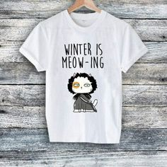 Excited to share the latest addition to my #etsy shop: Winter is Meow-ing Game of Thrones Funny Christmas T-shirt Cat Wearing Rudolf Costume Unisex Tees Xmas Shirts Cat Lady Cat Lovers #clothing #shirt #white #birthday #christmas #black #collectible #paper #catlovers http://etsy.me/2hMOfgf
