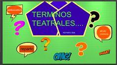 MÁS TÉRMINOS TEATRALES #2....caracterización, embocadura, alivio cómico,...