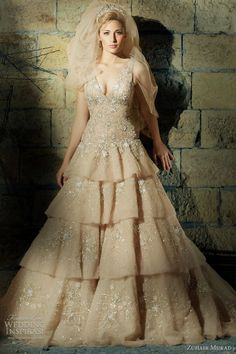 http://weddinginspirasi.com/2011/09/28/zuhair-murad-wedding-dresses-2011/  { #zuhairmurad #weddingdress color }  #weddings #wedding #bridal