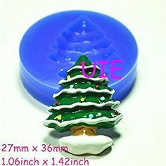 Christmas Tree Silicone Push Mold Fondant Gumpaste Polymer Clay by UIE on Amazon