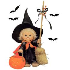 quenalbertini: Little witch by Ruth Morehead Halloween Clipart, Halloween Items, Halloween Pictures, Halloween Cards, Holidays Halloween, Vintage Halloween, Happy Halloween, Halloween Decorations, Halloween Illustration