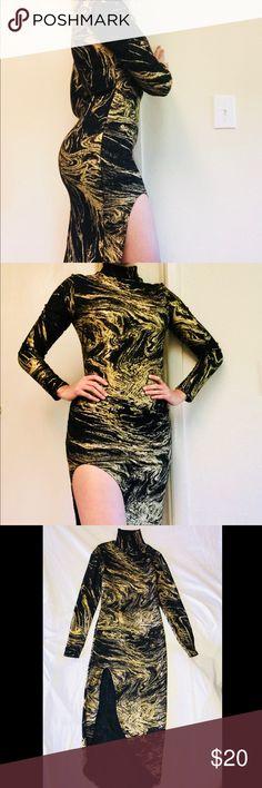 Elegant Party Dress Gold and Black Party  Elegant dress Dresses