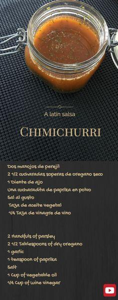 Chimichurri - Recipe of the Argentinian BBQ Sauce. Love it