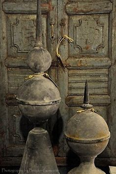 Old Galvanized Lightning Rod Finials Architectural Salvage, Architectural Elements, Objets Antiques, Pot Pourri, Photo Deco, Lightning Rod, Shabby, Galvanized Metal, Natural Living