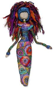 Art doll. Scribed designs by Gera Chandler – Polymer Clay Daily