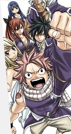 Fairy Tail Grand Magic Games Fairy Tail Team A: Natsu, Lucy, Gray, Erza and Elfman Fairy Tail Lucy, Fairy Tail Nalu, Fairy Tail Ships, Image Fairy Tail, Fairy Tail Family, Fairy Tail Guild, Fairytail, Gruvia, Anime Characters