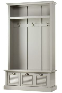 Shutter Locker Storage - Hall Trees - Entryway - Furniture | HomeDecorators.com. Not exactly what she was after, but the price is great, and  there are other color options, but I thought the gray may be complementary.