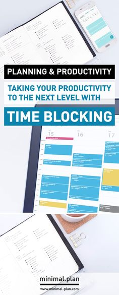 Take your productivity to the next level and learn how to better manage your time with the time blocking technique! Time blocking can easily be combined with any planner such as bullet journals. / Productivity tips, time management, time blocking, time blocking technique, productivity tip