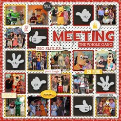 Disney scrapbooking character page digiscrap by larkd on MouseScrappers