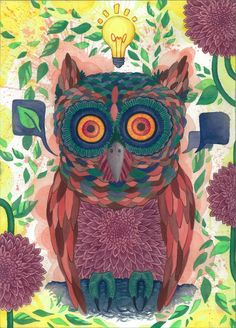 'Freakin Owls Man' by Huaman-Abstract