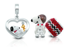 """Introducing the new """"Peanuts by Persona"""" collection of silver beads and charms from Persona jewelry.  Shop all the adorable Snoopy, Woodstock and Peanuts character charms at www.personaworld.com"""