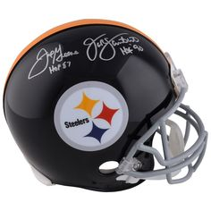 Jack Lambert   Joe Greene Pittsburgh Steelers Fanatics Authentic Autographed  Riddell Pro-Line Authentic Helmet with