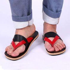 Aliexpress.com: Comprar Hombres de ocio sandalias planas 2016 recién llegado moda Flip flop informal para hombre, zapatillas de playa para el verano, tamaño 39 44 XMT147 de calcetines con suela antideslizante para los hombres fiable proveedores en BranKid