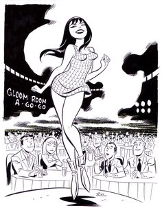 Mary Jane Go-Go Dancer by Bruce Timm at Comic Art Community