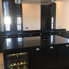 Nero Stella- Berkhamsted, Herts - Rock and Co Granite Ltd Black Kitchens, Granite, Kitchen Cabinets, Home Decor, Decoration Home, Room Decor, Granite Counters, Cabinets, Home Interior Design