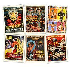 Lucha Libre Postcard Set