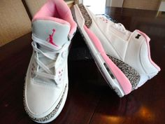 Women Teen Air Jordan 3 Retro Jumpman Gym tennis sneaker shoe 8.5/9/9.5 Pink NEW