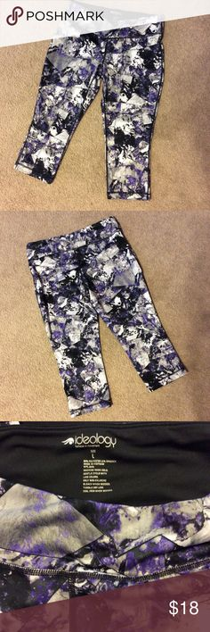 Ideology Workout Capris Size Large. Key pocket. Excellent condition. Purchased at Macy's.  Purple, gray, black, white. Ideology Pants