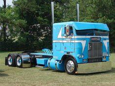 Cabover Powder Blue Freightliner