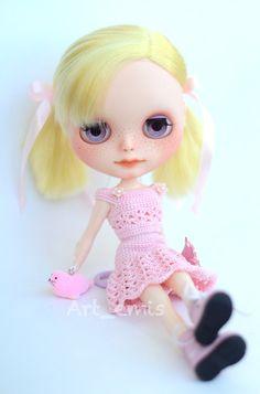 Begonia Custom Blythe doll OOAK by ByArtemis on Etsy, $450.00