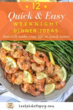 12 Quick and Easy Diner Ideas - Busy Weeknight Dinners - Looks Like Happy  #dinner #chicken #easydinner #quickdinner #chickendinner #dinnerideas #whatsfordinner