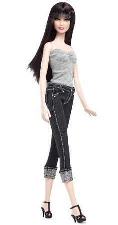 Barbie Collector Basics Model 05 - Collection 2. Barbie Basics takes the fashion basic to new heights with in denim! #barbie #toys #fashion #mattel