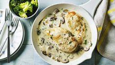 Chicken in a creamy mushroom sauce