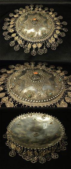 Ottoman silver gilt and coral bridal headpiece | 18th/19th century | 2,500$
