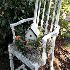 Chair as a planter ♥