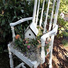Chair as a planter ♥