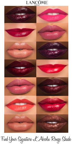 There are 44 breathtaking shades of L'Absolu Rouge. Find yours @sephora #labsolurouge Love Makeup, Makeup Tips, Makeup Looks, Hair Makeup, All Things Beauty, Beauty Make Up, Hair Beauty, Beauty Style, Beautiful Lips