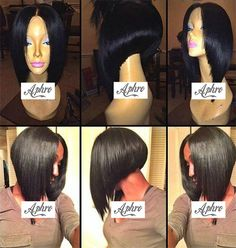 synthetic middle part wig - Google Search