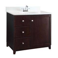 Design House Furniture Style 3 Drawer Single Bathroom Vanity Cabinet | from hayneedle.com