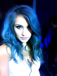 #bluehair #irra3D #balayage Aqua Hair, Cosmos, Disney Princess, Pretty, Blue, Fashion, Moda, La Mode, Universe