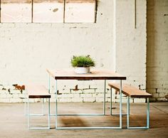 pop-and-scott-garden-table-display – Keep up with the times. Outdoor Dining, Outdoor Tables, Dining Table, Outdoor Spaces, Dining Room, Garden Furniture, Furniture Design, Outdoor Furniture, Pop And Scott