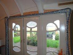 Livingroom windows Baarle Nassau Dutch Gaudi