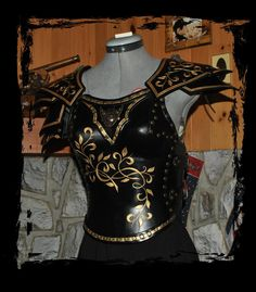 female leather armor by Lagueuse.deviantart.com on @DeviantArt