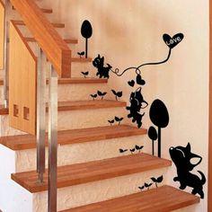 Jugando en la escalera