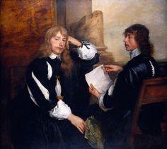 Sir Anthony van Dyck (1599-1641) Thomas Killigrew and William, Lord Crofts 1638 The Queen's Gallery (Галерея королевы), Букингемский дворец, Великобритания .