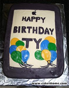 Cake Designs for Kids Birthdays - IPAD CAKE #cakedesigns