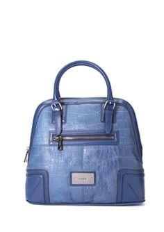 L.A.M.B Blue Hemingford Bowler Bag