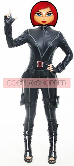 Captain America: The Winter Soldier Black Widow Cosplay Costume