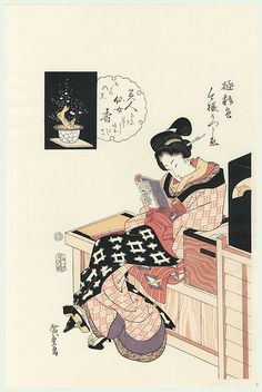 the scent of a beautiful woman / hiroshige / 1797 - 1858