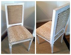 Green Animal Print Chair