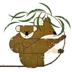 Charley Harper, The Animal Kingdom, 1968 Charlie Harper, Koala Illustration, Fall Art Projects, Design Graphique, Wildlife Art, Animal Paintings, Illustrators, Quilt, Animal Kingdom