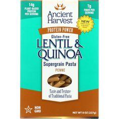 Ancient Harvest Pasta Supergrain Green Lentil And Quinoa Penne Gluten Free 8 Oz Case Of 6